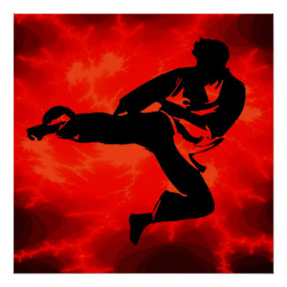 De vechtsporten bemannen het Rode poster van de Bl