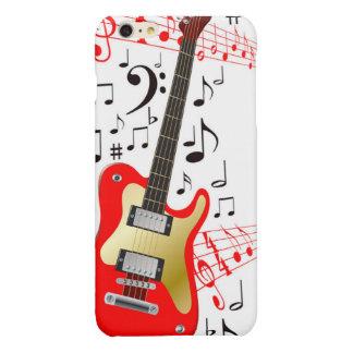 De vector Elektrische Gitaar van het Afbeelding Glossy iPhone 6 Plus Hoesje