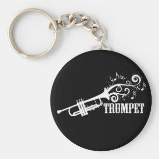 De Vector van de trompet met wervelingen Sleutelhanger