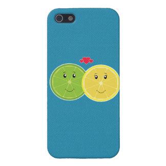 De Vector van Kawaii van de citroen & van de Liefd iPhone 5 Covers