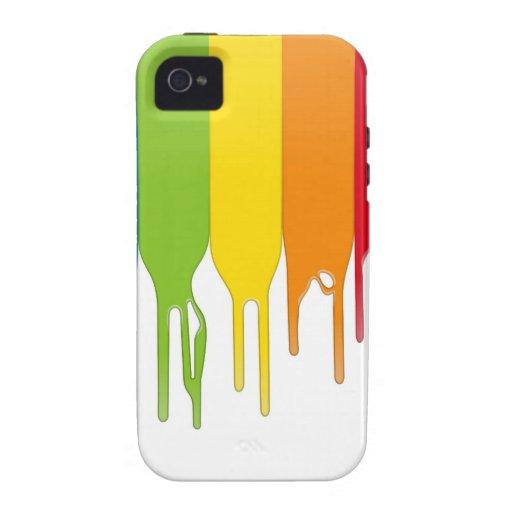 De vector Verf van de Kleur iPhone 4/4S Hoesje