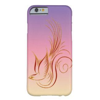 De vector vogel van de Kalligrafie Barely There iPhone 6 Hoesje
