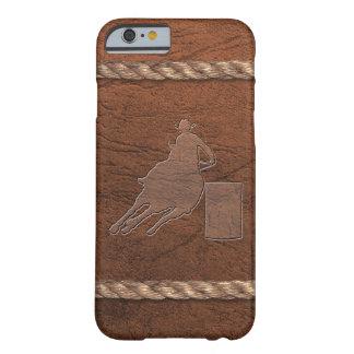 De Veedrijfster van de rodeo - het Leer & de Kabel Barely There iPhone 6 Hoesje