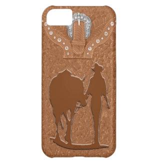 """De """"veedrijfster"""" Westerne IPhone 5 bewerkte van iPhone 5C Hoesje"""