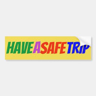 """De Veelkleurige Sticker """"hebben van een Veilige"""