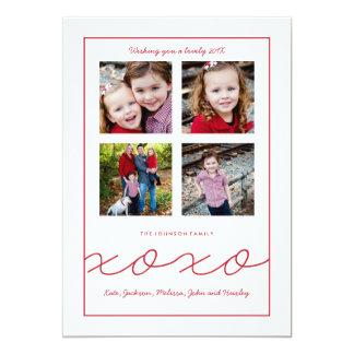 De veelvoudige Kaart van de Foto van de Familie 12,7x17,8 Uitnodiging Kaart