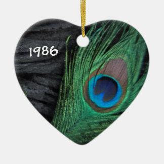 De Veer van de pauw met Zwart Ornament