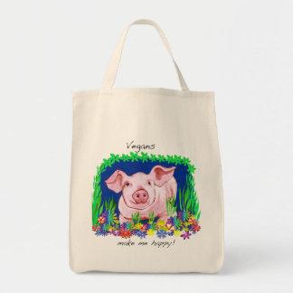 De veganisten maken me het gelukkige Canvas tas