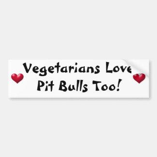 De vegetariërs houden ook van de Stieren van de Ku Bumpersticker