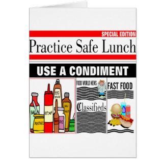 De Veilige Lunch van de praktijk Kaart