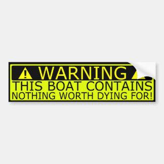 De veiligheid van de de stickerboot van de waarsch bumpersticker