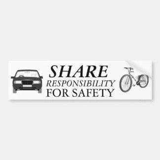 De Veiligheid van de fiets samen Bumpersticker