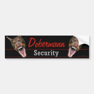 De Veiligheid van Dobermann Bumpersticker