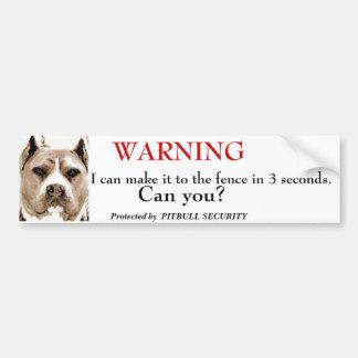 De Veiligheid van Pitbull Bumpersticker