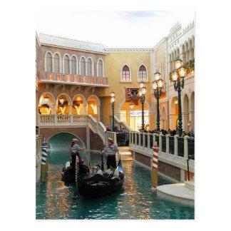 De Venetiaanse Kanalen van het Casino, het Briefkaart