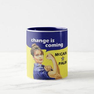 "de ""verandering is komst"" Republikeinse Partij Tweekleurige Koffiemok"