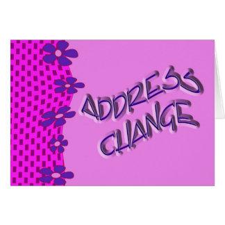 De verandering van het adres kaart