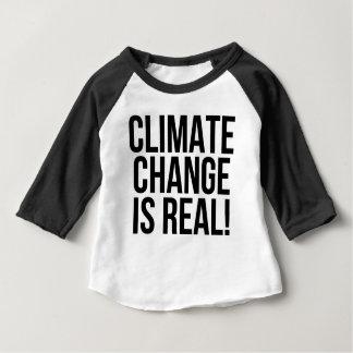 De Verandering van het klimaat is Echt! De Wereld Baby T Shirts
