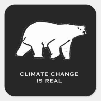 De Verandering van het klimaat is Echt Vierkante Sticker