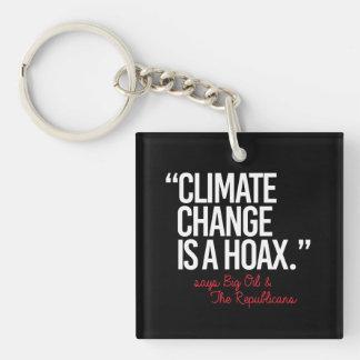 De Verandering van het klimaat is Hoax zegt Grote Sleutelhanger