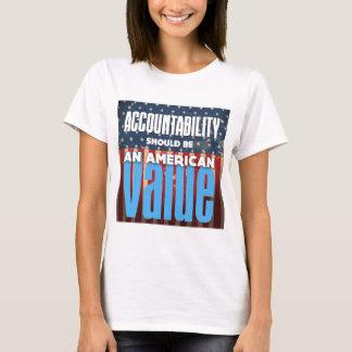 De verantwoordingsplicht zou een Amerikaanse T Shirt