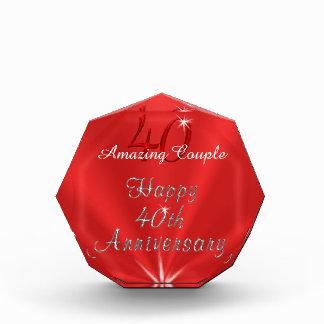De verbazende Giften van het Paar of 40ste van het Acryl Prijs