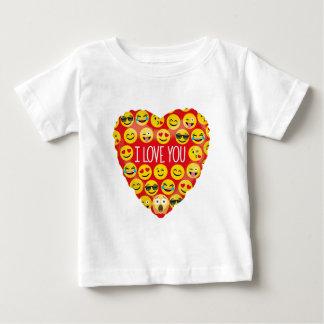 De verbazende liefde van I u Gift Emoji Baby T Shirts