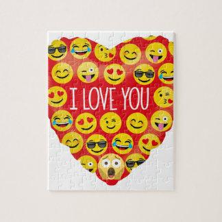 De verbazende liefde van I u Gift Emoji Legpuzzel