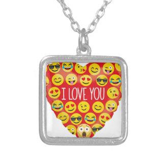 De verbazende liefde van I u Gift Emoji Zilver Vergulden Ketting