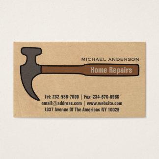 De verbetering en de reparatie van het huis visitekaartjes