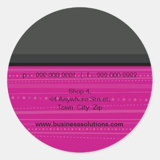 DE VERBINDING VAN DE STICKER:: lineaire 6 Ronde Sticker