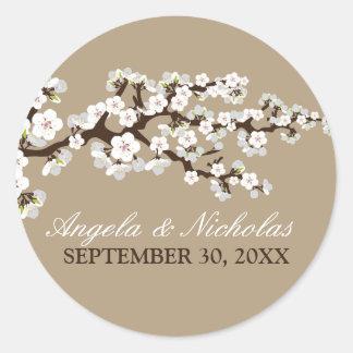 De Verbinding van de Uitnodiging van het Huwelijk Ronde Stickers