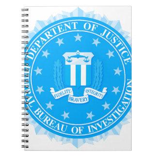 De Verbinding van het FBI in Blauw Ringband Notitieboek
