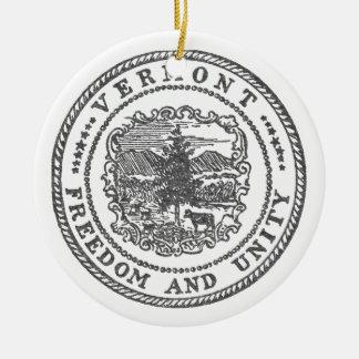 De Verbinding van Vermont Rond Keramisch Ornament
