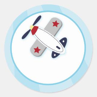 De Verbindingen van de Envelop van het Vliegtuig Ronde Stickers