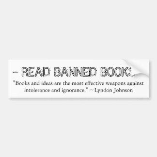 De verboden Sticker van de Bumper van Boeken Bumpersticker