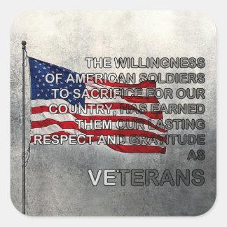 De verdiende Stickers van de Dag van de Veteranen