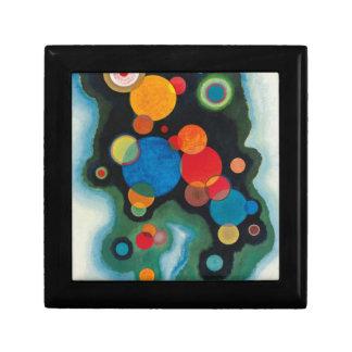 De verdiepte Abstracte Olie van de Impuls op Decoratiedoosje
