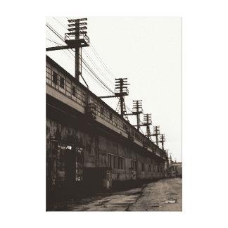 De verdwijnende Amerikaanse Stedelijke Industriële Canvas Print