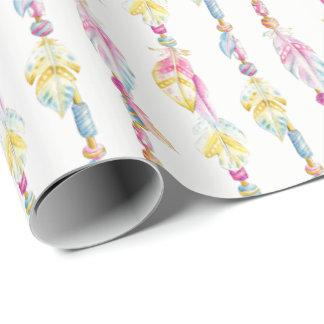 De veren en de parels de omslag van de inpakpapier