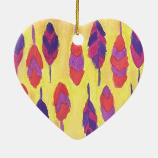 De Veren van Boho Keramisch Hart Ornament