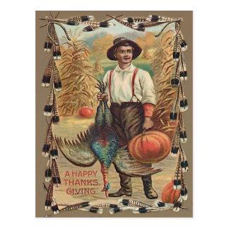 De Veren van de Schok van het Graan van de Pompoen Briefkaart