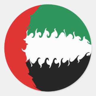 De verenigde Arabische Vlag van Gnarly van Ronde Sticker
