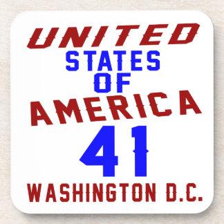 De Verenigde Staten van Amerika 41 Washington D.C. Onderzetters