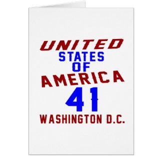 De Verenigde Staten van Amerika 41 Washington D.C. Wenskaart