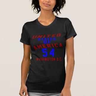 De Verenigde Staten van Amerika 54 Washington D.C. T Shirt