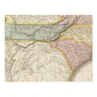 De Verenigde Staten van Amerika, zuidelijk deel Briefkaart