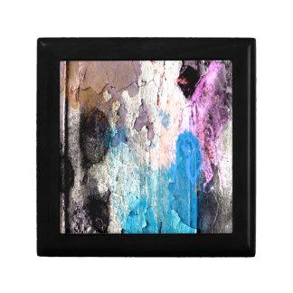 De Verf van de schil in Blauw, Paars, Roze Decoratiedoosje