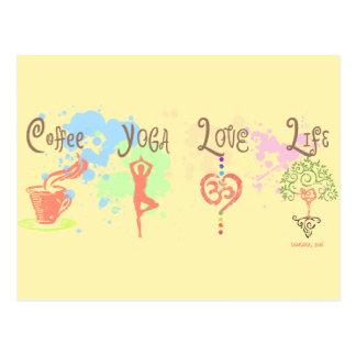 De Verf van het Leven van de Liefde van de Yoga Briefkaart