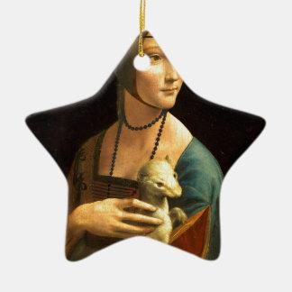 De verfDame van originele vinci van DA met een Keramisch Ster Ornament